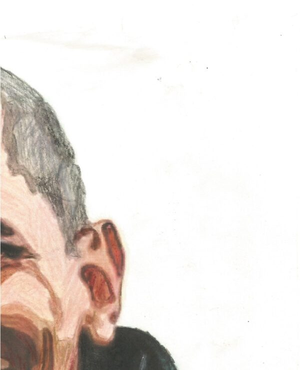 """""""Obama"""" By: Raychel Smith CLOSE-UP TWO This Original 8"""" x 10"""" Colored Pencil Drawing by Acclaimed Portrait Artist Raychel R. George (formerly Smith), of Barak Obama"""