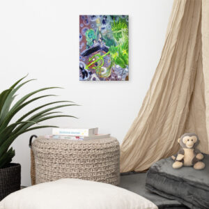 """""""Sea Lion Women And Mermaids Doing Autopsies On Things While The Bad Ass In The Corner Looks On"""" By: The GYPSY - Canvas Art Print Two"""